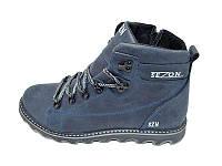 Мужские зимние туфли с нат.кожи SeZoN Stael101 Blue размеры: 40 41 42 43 44 45