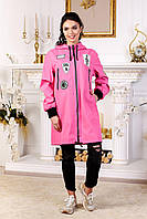 Женская малиновая куртка В-1028 МФ 101999 Тон 38 44-54 размеры