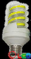 LED лампа 16 W, цоколь Е27, спиральная