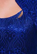 Женское вечернее платье Катрин рукав 3/4 / размер 52,54 / цвет электрик, фото 2