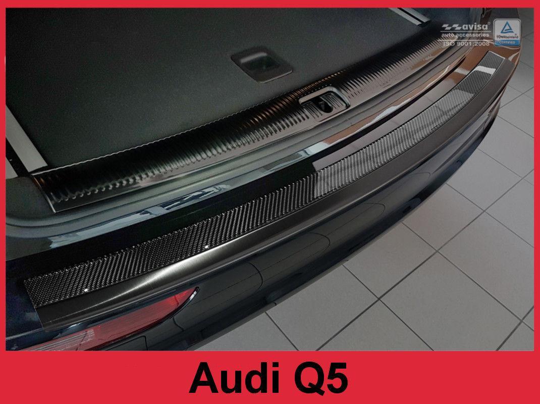 Защитная накладка на задний бампер AUDI Q5 карбон