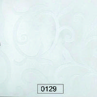 Пластик 0129 Белые матовые цветы