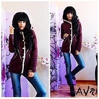 Женская модная куртка-дубленка 88