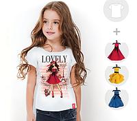 """Футболка детская со съёмными платьями """"Lovely Paris"""""""