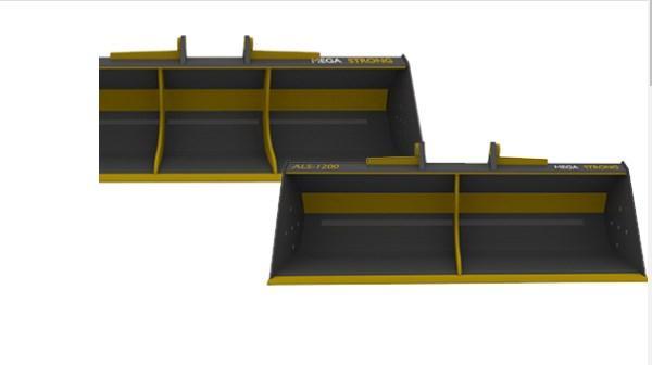 Ковши  MEGA STRONG с гидроприводом 1500мм для CASE, CAT, JCB