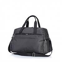 Качественная сумка в дорогу и для спорта  темно-синего цвета водонепромокаемая