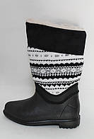 Сапоги женские зимние черные Украина, фото 1