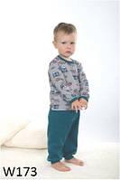 Пижама детская для мальчика WIKTORIA W173 зеленая