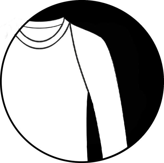 Длинный свободный рукав-реглан