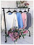Модный женский свитер машинной вязки, цвет молочный, фото 3