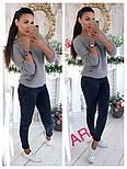 Модный женский свитер машинной вязки, цвет молочный, фото 8