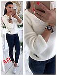 Модный женский свитер машинной вязки, цвет молочный, фото 9