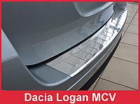 Накладка на задний бампер из нержавейки Dacia Logan MCV