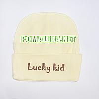 Детская трикотажная шапочка р. 40 для новорожденного отлично тянется ТМ Sweet Mario 3841 Желтый