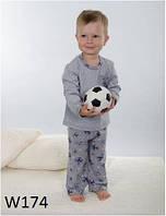 Пижама детская для мальчика WIKTORIA W174 серо-синий