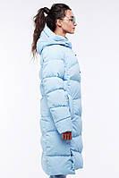 Молодежное светло-голубое пальто / Молодіжне світло-голубе пальто