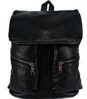 Стильный женский городской рюкзак черный
