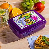 Пищевой контейнер для завтрака двухсекционный 1.3 литра BranQ