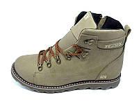 Мужские зимние туфли с нат.кожи SeZoN Stael 101 Khaki размеры: 40 41 42 43 44 45