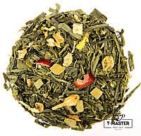 Зелений ароматизований чай Клюква, 500 г