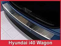 Накладка на задний бампер из нержавейки Hyundai i40 CW