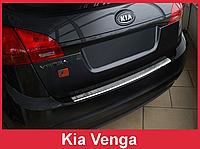 Накладка на задний бампер из нержавейки KIA Venga