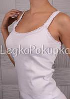 Майка женская Белая 21-2113 Рибана