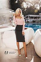 Блуза с открытыми плечами в расцветках., фото 3
