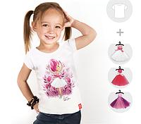 """Футболка детская со съёмными платьями """"Flower Paradise"""""""