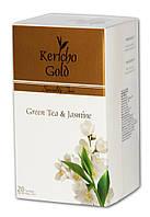 """Kericho Gold """"Зелений чай із жасмином"""", 20 х 2 г"""