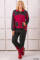 Спортивный костюм размер плюс Бонита бордовый (54-64)