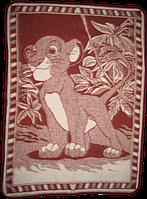 Одеяло детское 72% шерсти 100х140 см