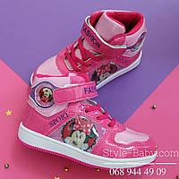 Демисезонные высокие ботинки на девочку Disney Минни р. 28,29,30
