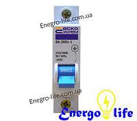 Выключатель автоматический АСКО УКРЕМ ВА-2001 1р 10А класс С,  предотвращающий скачки напряжения в сети