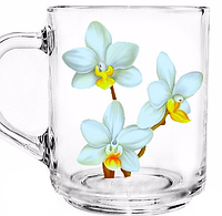 Стеклянная кружка Green Tea Белая орхидея на 200 мл Gallery Glass 85002746