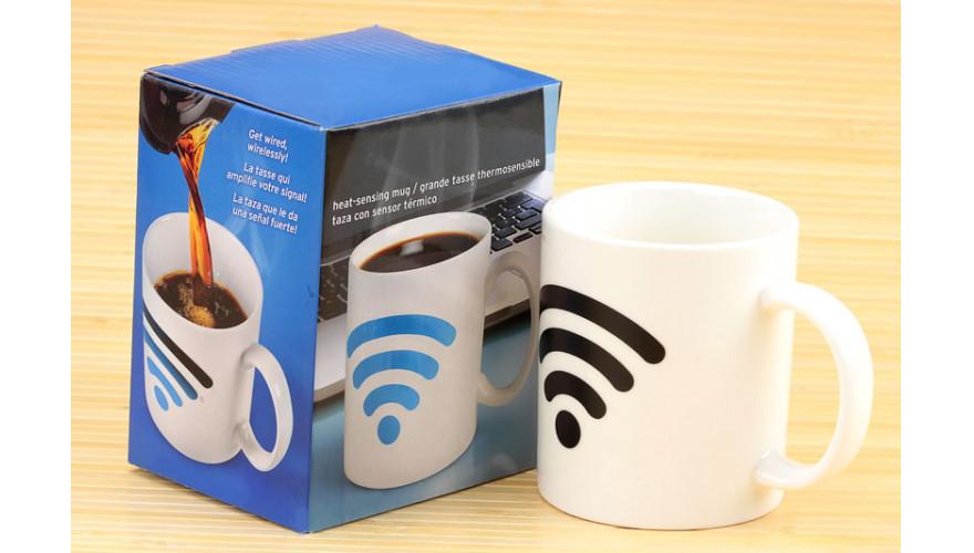 Чашка с терморисунком Wi-Fi ( хамелеон )