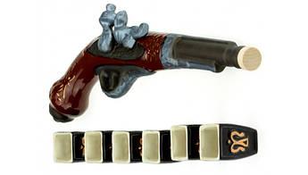 Подарочный коньячный набор Пистоль мушкет 7 предметов, производство Украина, 502873646