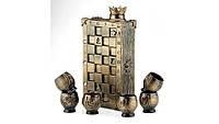 Коньячный набор Шахматы, 7 предметов, 2 цвета