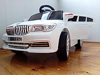 Детский электромобиль МХ1343 BMW на резиновых EVA колёсах, 4 амортизатора, кожа