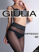 Колготки з мереживним поясом на силиконоврй основі GIULIA IMPRESSO 40 DEN