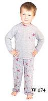 Пижама детская для мальчика WIKTORIA W174 серо-красный