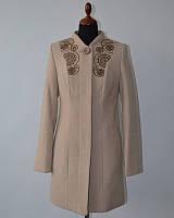 Пальто классика с вышивкой 42-50рр