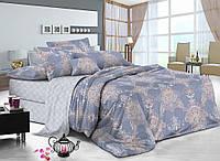 Двуспальный комплект постельного белья евро 200*220 сатин (8162) TM KRISPOL Украина