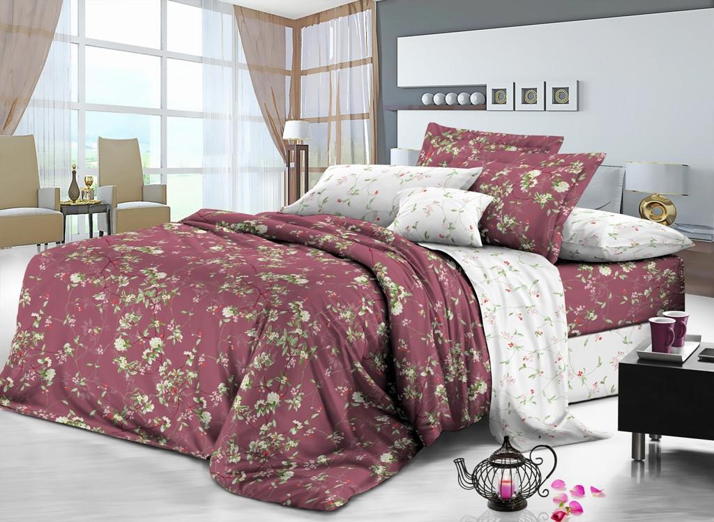 Семейный комплект постельного белья сатин (8165) TM KRISPOL Украина