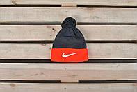 Модная мужская шапка найк, шапка Nike черная - красная