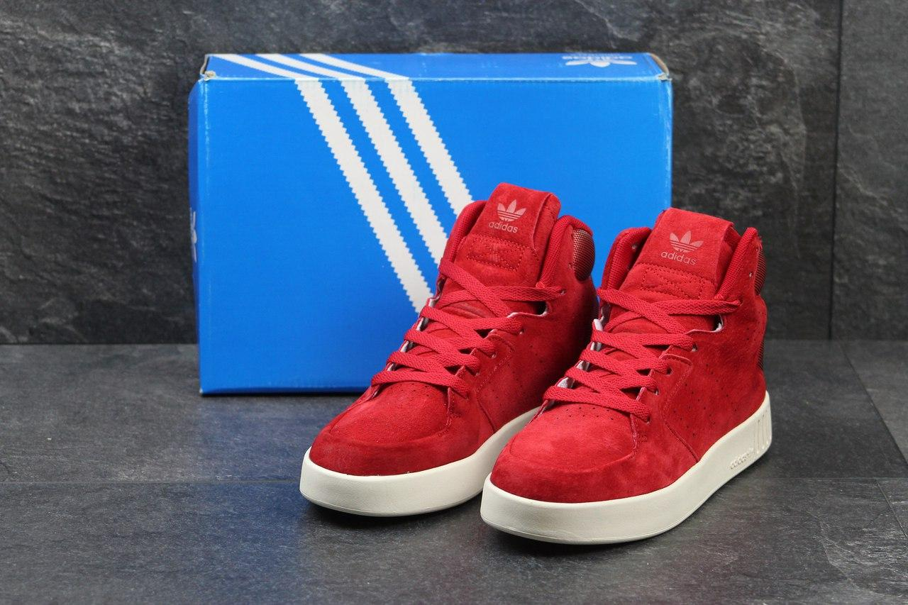 Жіночі замшеві кросівки Adidas Tubular Invader червоні - Камала в  Хмельницком 6e3099c18e396