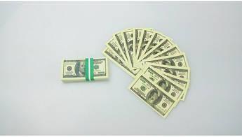 Пачка 100 баксов мини «конфетти» ( прикольные доллары )