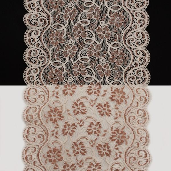Кружево Италия арт.150 лилов+пудра, шир 20 см