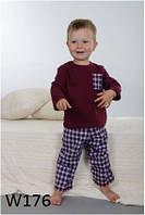 Пижама детская для мальчика WIKTORIA W176 бордо