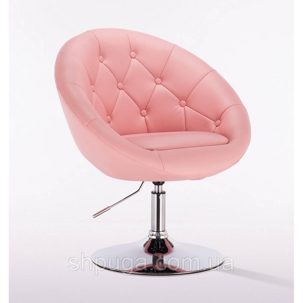 Кресло парикмахерское НС8516 розовое пуговицы